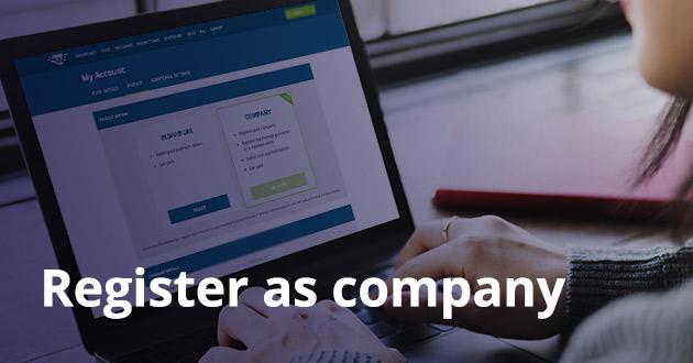 Register as company