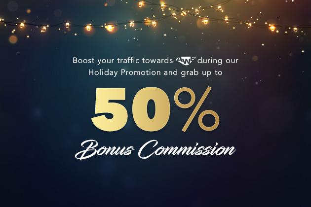 0 - 50% Bonus commission with AWE
