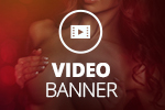 Video banner: Your visitors can't resist this one'