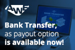 Get paid via bank transfer'