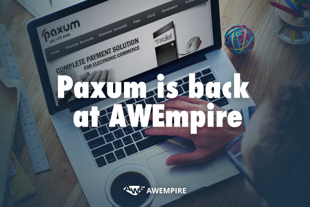 2 - Choose Paxum as your means of receiving payments!